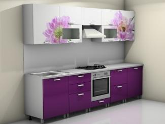 Кухня прямая Смак 20 с фотопечатью - Мебельная фабрика «Лига Плюс»