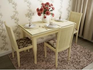 Светлая обеденная группа Мирон  - Мебельная фабрика «Симкор»