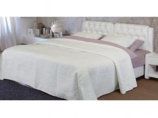 Белая двухспальная кровать Аврора  - Мебельная фабрика «Стрэк-тайм»