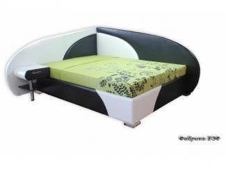 Угловая кровать Дельта 2 черно-белая - Мебельная фабрика «ВЭФ»