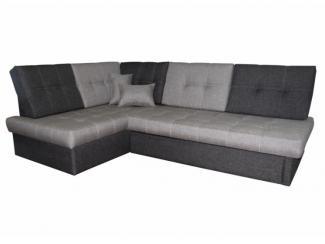 Серый угловой диван Рево