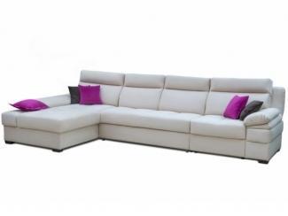 Светлый угловой диван с яркими подушками Raiden - Мебельная фабрика «Пегас», г. Уфа