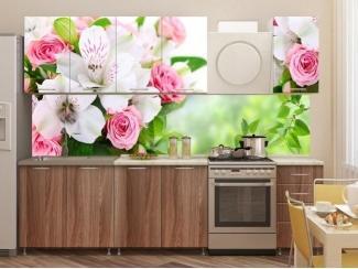 Кухня с фотопечатью Букет - Изготовление мебели на заказ «Союз»