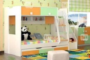 Детская двухъярусная кровать Rich Green - Мебельная фабрика «ТомиНики»