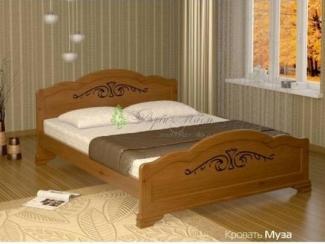 Кровать Муза из массива сосны - Мебельная фабрика «Верба-Мебель», г. Муром