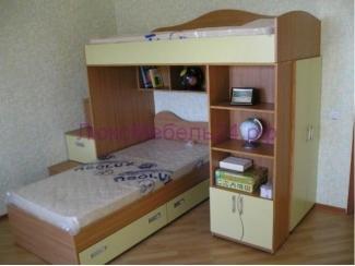 Двухъярусная кровать со шкафом - Мебельная фабрика «ЛюксМебель24»