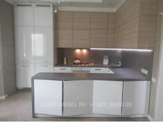 Кухня с фасадами ДСП модель 008 - Мебельная фабрика «ЛюксБелМебель»