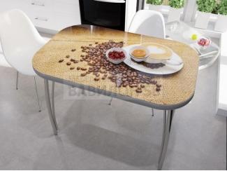 Стол со стеклом Кофе  - Мебельная фабрика «Вавилон58»