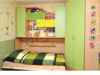 Кровать-шкаф подъемная  2 детская - Мебельная фабрика «Альфа-М»