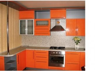 Кухня угловая из пластика Оранж - Мебельная фабрика «Derli»