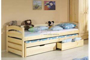 Детская кровать Модекс с выдвижными ящиками - Мебельная фабрика «Верба-Мебель»