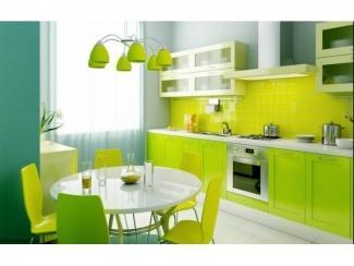 Кухонный гарнитур в зеленом цвете  - Мебельная фабрика «Перспектива»