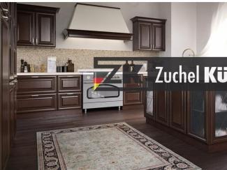 Кухонный гарнитур угловой Аурих Шоколад - Мебельная фабрика «Zuchel Kuche (Германия-Белоруссия)»