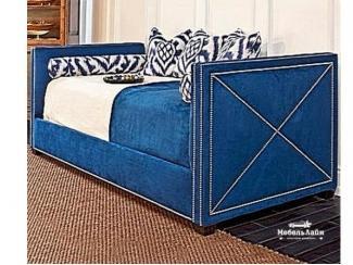 Мягкая кровать обитая тканью Клаус - Мебельная фабрика «МебельЛайн»