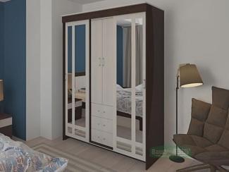 Шкаф-купе с комодом и зеркалом  - Мебельная фабрика «Ваша мебель»