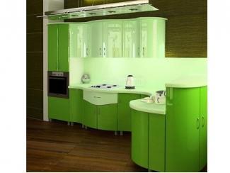 Кухня Волна 2 полуостровнaя планировка  - Мебельная фабрика «Аркадия-Мебель»