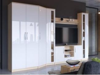 Глянцевая гостиная Николь вариант 2 - Мебельная фабрика «Фран»