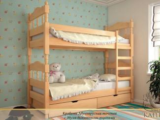Кровать Двухъярусная точеная - Мебельная фабрика «Каприз»