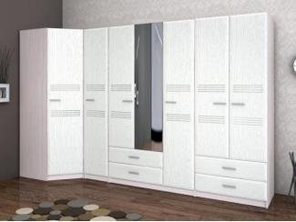 Вместительный белый шкаф Селена - Мебельная фабрика «Бурэ»