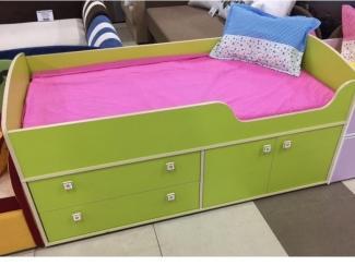 Кровать детская Приют Лайм-1 - Мебельная фабрика «Династия»