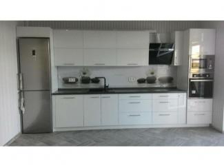 Белая глянцевая кухня  - Мебельная фабрика «Альфа-Мебель»