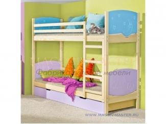 Кровать в детскую Тематика 2 - Мебельная фабрика «Массив мастер», г. Екатеринбург