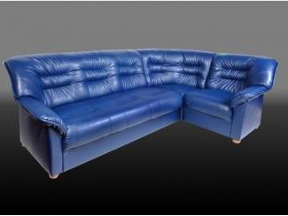 Синий угловой диван Виктория