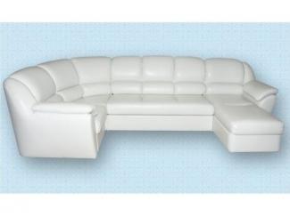 П-образный белый диван Союз 37