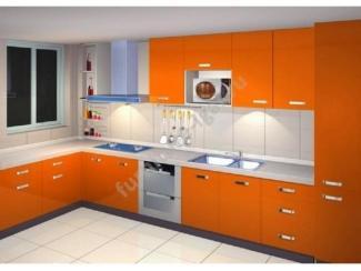 Высокая оранжевая кухня  - Изготовление мебели на заказ «Игал»
