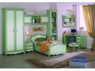 Зеленая мебель для детской Оливия  - Мебельная фабрика «Дива мебель», г. Москва
