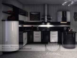 Кухня Вираж Черный/Белый - Мебельная фабрика «Абико»