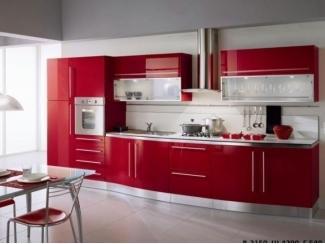Красная прямая кухня 1248 - Мебельная фабрика «Мастер», г. Ульяновск