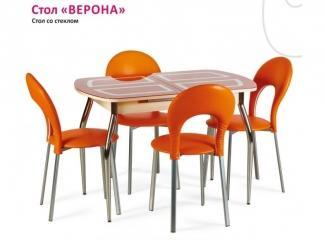 Стол со стеклом Верона