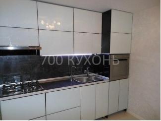 Прямая глянцевая кухня  - Мебельная фабрика «700 Кухонь»