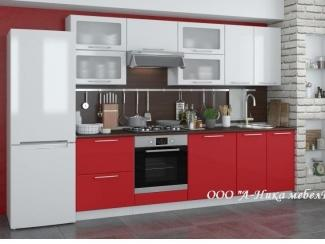 Красно-белая кухня 2.4 м Ирина - Мебельная фабрика «А-Ника», г. Ульяновск