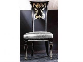 Стул HAND MADE черный со старением и рисунком - Импортёр мебели «М-Сити (Малайзия)»