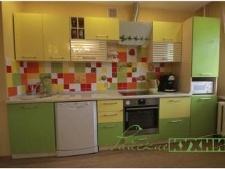 Яркая желто-зеленая кухня Фарма - Мебельная фабрика «Райские Кухни»