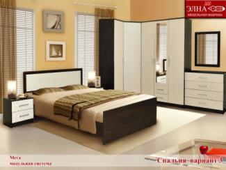 Спальня Мега вариант 3 - Мебельная фабрика «Элна»
