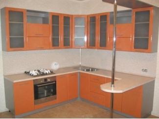 Угловая кухня с барной стойкой  - Мебельная фабрика «Три кита»