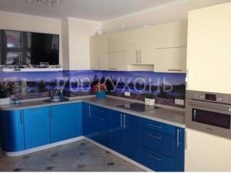 Голубая угловая кухня  - Мебельная фабрика «700 Кухонь»