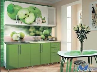 Кухня прямая с фотопечатью Яблоко - Мебельная фабрика «Мир Мебели»