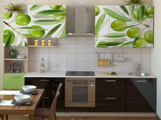 Кухонный гарнитур прямой 4 фотопечать