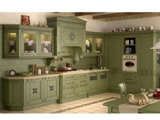 Кухня прямая Floreale verde