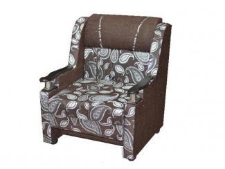 Кресло-кровать с деревянным подлокотником - Мебельная фабрика «Экон-мебель»