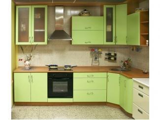 Кухня МДФ матовая (салатовая) - Мебельная фабрика «Ренессанс»