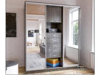 Шкаф-купе 3 створки с ящиками Консул - Мебельная фабрика «Элна»
