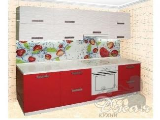 Красно-белая кухня - Мебельная фабрика «Джая»