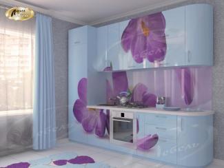 Кухня прямая «Крокус blue»