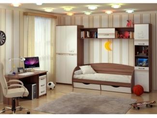 Детская спальня Милания - рисунок Город - Мебельная фабрика «БелДревМебель»