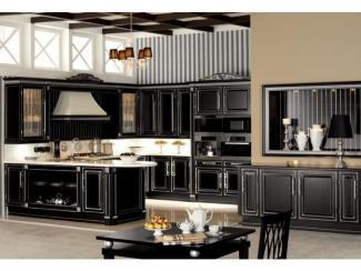 Кухня угловая Британика черная - Мебельная фабрика «Атлас-Люкс»
